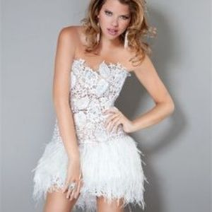 Womens Prom Dresses With Feathers On The Bottom On Poshmark